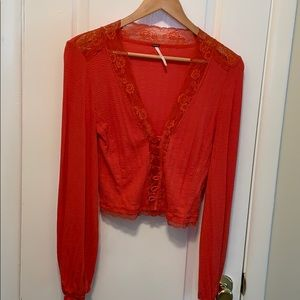 Free people crop cardigan